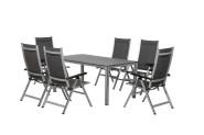 FloraSun® Gartenmöbel Set Party, 6 Sessel, 1 Tisch