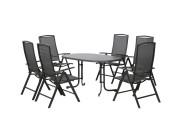 FloraSun® Gartenmöbel Set Terrasse, 6 Sessel, 1 Tisch