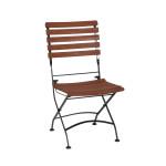 FloraSun® Klappstuhl Borkum aus 100% FSC-zertifiziertem Akazienholz, klappbarer Gartenstuhl mit Stahlgestell, Belastbarkeit 90 kg, Sitzhöhe 43 cm