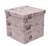 Franz Müller Aufbewahrungsbox faltbar mit Deckel, Storage Box, eckig rund bedruckt, 30x30H29 cm
