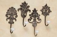 Garderobenhaken, Wandhaken in antikbraun aus Metall, sortiert, 1 Stück, ca. 9 cm x 6 cm x 17 cm