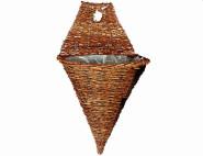 """GARDMAN Weide-Wandampel """"Rustikal Vase"""", Durchmesser: 40 cm aus Naturmaterial"""