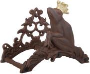 Esschert Design Gartenschlauchhalter aus Gusseisen mit Froschkönig-Motiv, für Wandmontage, 26 x 16 x 20 cm