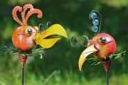 Gartenstab Pelikan 2-fach sortiert, Höhe 90 cm, 1 Stück