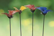 Gartenstab Schmetterling 4-fach sortiert, 1 Stück