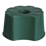 GRAF Regentonne-Unterstand für Tonne rund 210 Liter und eckig 203 Liter, Regentonnen-Sockel, Höhe: 33 cm, in grün