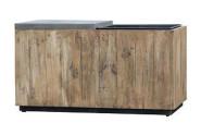 Greemotion Bank mit Pflanztopf aus recyceltem Kiefernholz, 85,5 x 43,5 x H47 cm, herausnehmbarer Einsatz, mit Faserzementsitz, in-/outdoorgeeignet