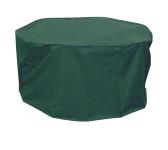 greemotion Schutzhülle für Gartentisch, Wetterschutzhülle, Gartenhülle, Abdeckung,  Ø 320 x 95 cm, aus Polyester, in grün