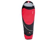 Grüezi bag Biopod Hybrid Wool/Down, 215x78cm, Schlafsack, Ripstop 100% Polyamid, Polyester-Woll-Füllung, Fußbereich 50cm, ca. 1300g, in black-red