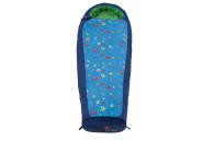 Grüezi bag mitwachsender Kinderschlafsack Kids Monster, 140 bis 180 x 65 x 45 cm, Reißverschluss Seite wählbar
