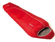 Grüezi bag Mumienschlafsack Biopod Zero, Tango Red, Almwollschlafsack für Erwachsene, 215 x 78 x 50 cm