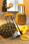 GSD Ananasschneider mit Griff, aus Edelstahl, 20,5 x 8,5 x 8,5 cm