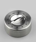 GSD Kurzzeitmesser, 120 Min., aus Edelstahl, mit Gummifüßen Ø 8 x 3,5 cm