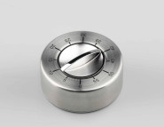 GSD Kurzzeitmesser, 60 Min., aus Edelstahl, mit Gummifüßen Ø 8 x 3,5 cm