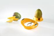 GSD Mangoschneider mit Fruchthalter aus Kunststoff/Edelstahl, 17,5 x 14 x 5,5 cm