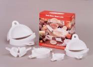GSD Pastamaker 5er-Set, Formen aus Kunststoff, in verschiedene Größen