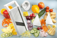 GSD Universal-Gemüsehobel aus Kunststoff, mit 3 Einsätzen