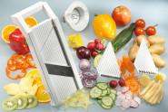 GSD Universal-Gemüsehobel aus Kunststoff , mit 5 Einsätzen