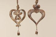 Hänger Herz, Dekohänger, Holzhänger, Länge 36 cm, 1 Stück, sortierte Ausführungen