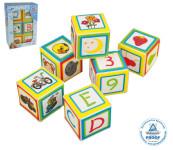 Happy People 6 Stück Spielwürfel Soft-Würfel mit verschiedenen Motiven, ca. 7 x 7 cm