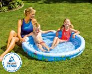 Happy People 77774 Planschbecken Baby-Pool Happy Sea, 76 x 20 cm, 2 Ringe