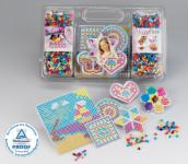 Happy People Bügelperlen-Set, ca. 10.000 bunten Perlen, 6 verschiedene Schablonen und Bügelpapier