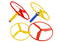 Happy People Katapult-Flugkreisel, 1 Stück inkl. 2 Propeller