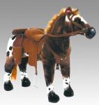 """Happy People Spielzeug Pferd """"Anglo-Araber"""", mit Sound, Sattelhöhe ca. 49 cm + 2. Sattel in braun mit Steigbügel und Zaumzeug"""