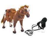 """Happy People Spielzeug Pferd """"Anglo-Araber"""", mit Sound, Sattelhöhe ca. 49 cm + 2. Sattel in schwarz mit Steigbügel und Zaumzeug"""