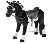 Happy People Spielzeug Pferd, Dressurpferd mit Sound, Sattel und Zaumzeug, Sattelhöhe ca. 55 cm