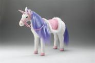 Happy People Spielzeug Pferd Einhorn in weiß, mit Sound, Kopfhöhe ca. 65 cm