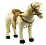 Happy People Spielzeug Pferd in beige, mit 3-fach Sound, Sattelhöhe ca. 50 cm +  2. Sattel in braun mit Steigbügel & Zaumzeug