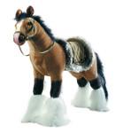 Happy People Spielzeug Pferd in braun, mit Sound, Sattelhöhe ca. 51 cm +  2. Sattel in braun mit Steigbügel & Zaumzeug