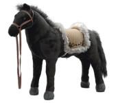 Happy People Spielzeug Pferd Indianerpferd in schwarz, mit Sound, Sattelhöhe ca. 52 cm