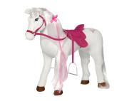 """Happy People Spielzeug Pferd - Mattel Barbie-Pferd """"MAJESTY"""", mit Sound + 2. Sattel in braun mit Steigbügel und Zaumzeug"""