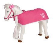 """Happy People Spielzeug Pferd - Mattel Barbie-Pferd """"MAJESTY"""", mit Sound + 2 in 1 Pferdedecke"""
