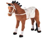 Happy People Spielzeug Pferd, Voltigierpferd mit Sound, Sattel und Zaumzeug, Sattelhöhe ca. 55 cm