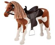 Happy People Spielzeug Pferd, Westernpferd mit Sound, Sattel und Zaumzeug, Sattelhöhe ca. 55 cm