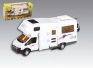 Happy People Spielzeugauto Motorhome Wohnmobil, weiß, ca. 17 cm lang