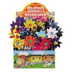 Happy People Windmühle 16 cm Raddurchmesser, Höhe 43 cm, 1 Stück, farblich sortiert