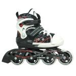 HEAD Adj. Inline Skate Kid mit Stopper, Größenverstellbar 26-31, bequemer Softboot, stabiler Kinder Inline Skate, 82A Straßenrollen