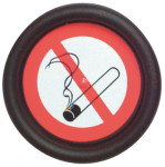 Hinweisschild Rauchen verboten rund, selbstklebend