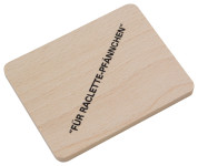 Hofmeister Holzwaren Brettchen für Raclettepfännchen, mit Aufdruck, aus Buchenholz