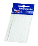 homeXpert 50er Pack Schutzpuffer, Anschlagpuffer, Möbelpuffer, Anschlagdämpfer, Elastikpuffer, flach, transparent, selbstklebend, Ø 8 mm, Höhe 1,8 mm