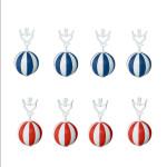 homeXpert 8er Tischtuchanhänger-Set blau/weiß rot/weiß Tischdeckenbeschwerer extra schwer