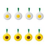 homeXpert 8er Tischtuchanhänger-Set Flower Power Tischdeckenbeschwerer 4x Margeriten und 4x Sonnenblumen