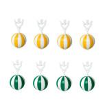 homeXpert 8er Tischtuchanhänger-Set grün/weiß gelb/weiß Tischdeckenbeschwerer extra schwer