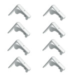 homeXpert 8er Tischtuchklammer-Set bis 45 mm Plattenstärke Tischdeckenbefestigung weiß