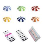 homeXpert 9er Garten-Party Set mit 5 bunten Glasabdeckungen Schirmchen, 100 Knicktrinkhalmen und 2 Eiswürfelbehältern IceCube