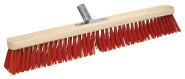 homeXpert Hofbesen Holz Länge: 60 cm, Metallstielhalter für 24 mm Stiel